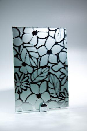 """Зеркало """"Цветы"""" серебро"""