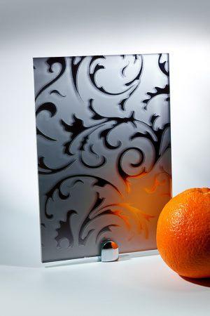 """Зеркало """"Барокко"""" матовое графит"""