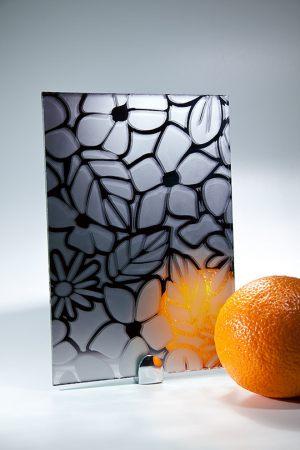 """Зеркало """"Цветы"""" графит"""