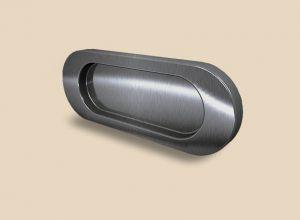 Ручка серебро глянец овальная Италия
