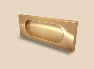 Ручка Золото глянец прямоугольная Италия