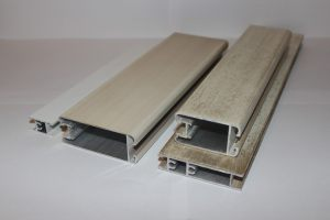 Профиль алюминиевый для шкафа купе, межкомнатных перегородок эмаль +патина