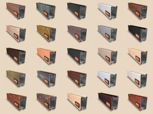 """Алюминиевый ламинированный профиль """"HOLZ"""" для шкафов купе и межкомнатных перегородок Более 100 цветов"""