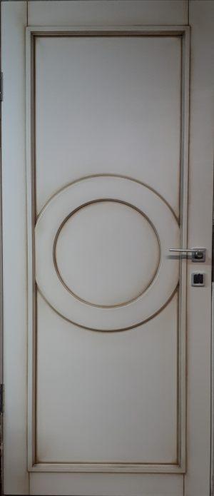 Межкомнатная дверь в профиле массив (эмаль с патиной)