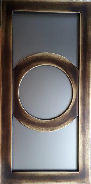 Фасад с фигурной филенкой эмаль+золотая патина