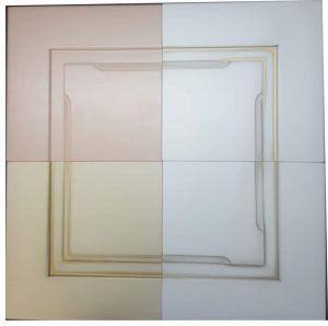 Фасады МДФ эмаль+патина с фигурной фрезеровкой