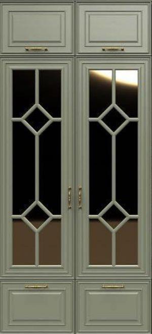 Фасад с фигурной филенкой эмаль