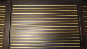 МДФ шпон с фрезеровкой+патина золото